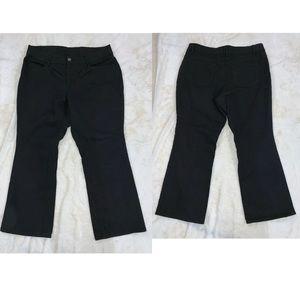 Faded Glory Jeans Women's Size 18WP Black Boot Cut